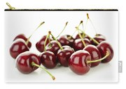 Fresh Cherries On White Carry-all Pouch by Elena Elisseeva