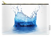 Fresh Clean Water Splash In Blue Carry-all Pouch