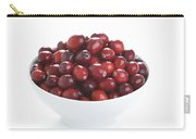 Fresh Cranberries In A White Bowl Carry-all Pouch