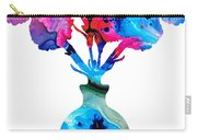 Fresh Cut - Vibrant Flowers Floral Painting Carry-all Pouch