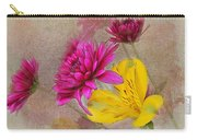 Fresh Flowers Painted Carry-all Pouch