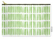 Fresh Grass- Abstract Pattern Painting Carry-all Pouch by Linda Woods