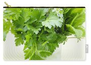 Fresh Herbs In A Glass Carry-all Pouch