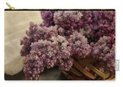 Fresh Lilacs In Brown Basket Carry-all Pouch