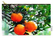 Fresh Orange On Plant Carry-all Pouch