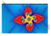 Fresh Orange Red And Blue Abstract Fractal Art Carry-all Pouch