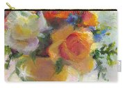 Fresh - Roses In Teacup Carry-all Pouch by Talya Johnson