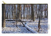 Fresh Snow In The Woods Carry-all Pouch