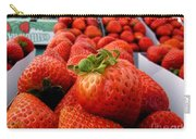 Fresh Strawberries Carry-all Pouch by Peggy Hughes