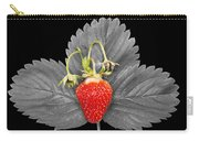 Fresh Strawberry And Leaves Carry-all Pouch