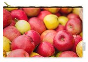 Freshly Harvested Colorful Crimson Crisp Apples On Display At Th Carry-all Pouch