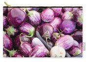 Freshly Harvested Purple Eggplants Carry-all Pouch