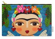 Frida Kahlo Angel And Flaming Heart Carry-all Pouch