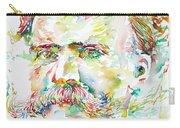 Friedrich Nietzsche Watercolor Portrait Carry-all Pouch