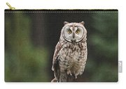 Friendly Owl In The Forest Carry-all Pouch