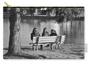 Friends In Black And White Carry-all Pouch