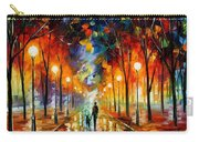 Friendship - Palette Knife Oil Painting On Canvas By Leonid Afremov Carry-all Pouch