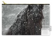 Friesian Snow Carry-all Pouch by Fran J Scott