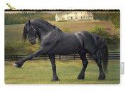 Friesian Stallion Tije Spanish Walk Carry-all Pouch