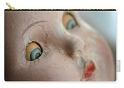 Frightened Vintage Doll Face Carry-all Pouch
