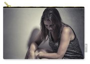 Frightened Woman Carry-all Pouch
