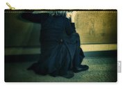 Frightened Woman Carry-all Pouch by Jill Battaglia