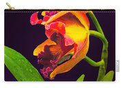Frilly  Red And Yellow Orchids Carry-all Pouch