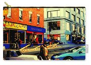 Friperie St.laurent Clothing Variety Dress Shop Downtown Corner Store City Scene Montreal Art Carry-all Pouch