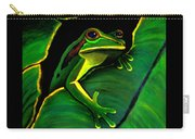Frog And Leaf Carry-all Pouch