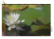 Frog And Water Lily Carry-all Pouch