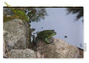Frog At Edge Of Pond Carry-all Pouch