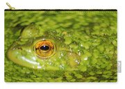 Frog In Single Celled Algae Carry-all Pouch