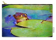 Frog - On A Water Lily Pad Carry-all Pouch