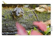 Frog On Log 1 Of 3 Carry-all Pouch