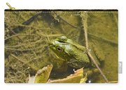 Frog Thinks He's Hidden Under A Twig Carry-all Pouch