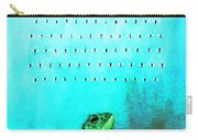 Frog With Flies In Space Invaders Formation Carry-all Pouch by Fabrizio Cassetta