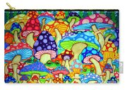 Frogs And Magic Mushrooms Carry-all Pouch