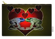 Frogs In Love Carry-all Pouch