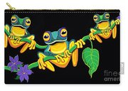 Frogs On Vines Carry-all Pouch