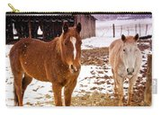 Frolicking In The Snow  Carry-all Pouch