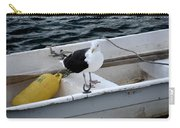 From Rockport Ma A Seagull Chilling Out In A Rowboat Carry-all Pouch