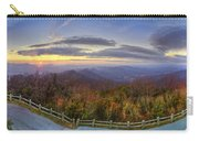 From The Top Of Brasstown Bald Carry-all Pouch by Debra and Dave Vanderlaan