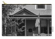 Front Porch Usa Black And White Carry-all Pouch