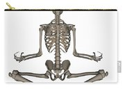 Front View Of Human Skeleton Meditating Carry-all Pouch