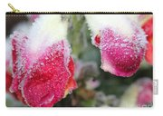 Frost Bears Down On Snapdragon Named Floral Showers Red And Yellow Bicolour Carry-all Pouch