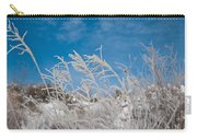 Frost Covered Grasses Against The Sky Carry-all Pouch