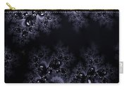 Frost In The Moonlight Fractal Carry-all Pouch
