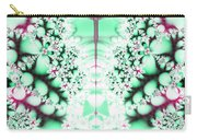 Frost On The Grass Fractal Carry-all Pouch