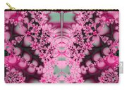 Frost On The Roses Fractal Carry-all Pouch