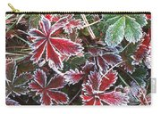 Frost On Wild Strawberry Carry-all Pouch